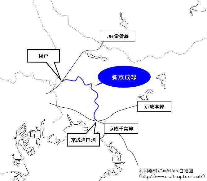 【画像】新京成線  路線図