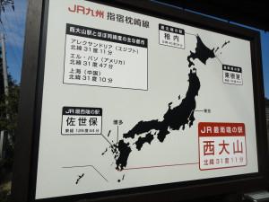 【画像】最東西南北の駅を紹介する看板