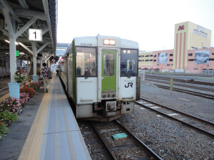 【画像】宮古駅で発車を待つJR山田線(盛岡行き)
