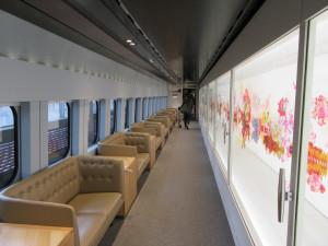 【画像】現美新幹線の車内2