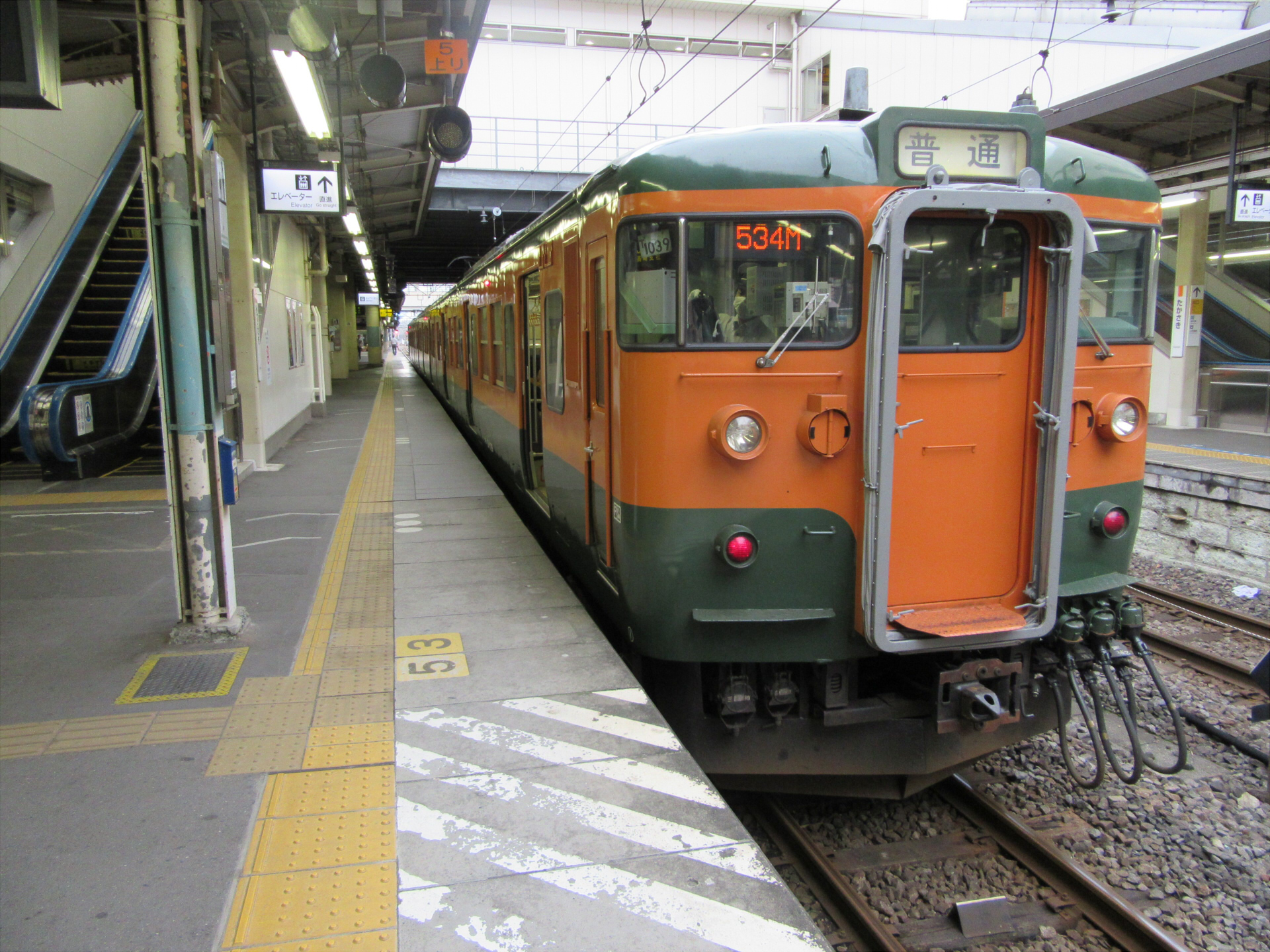 【画像】JR吾妻線 大前行き(高崎駅にて)