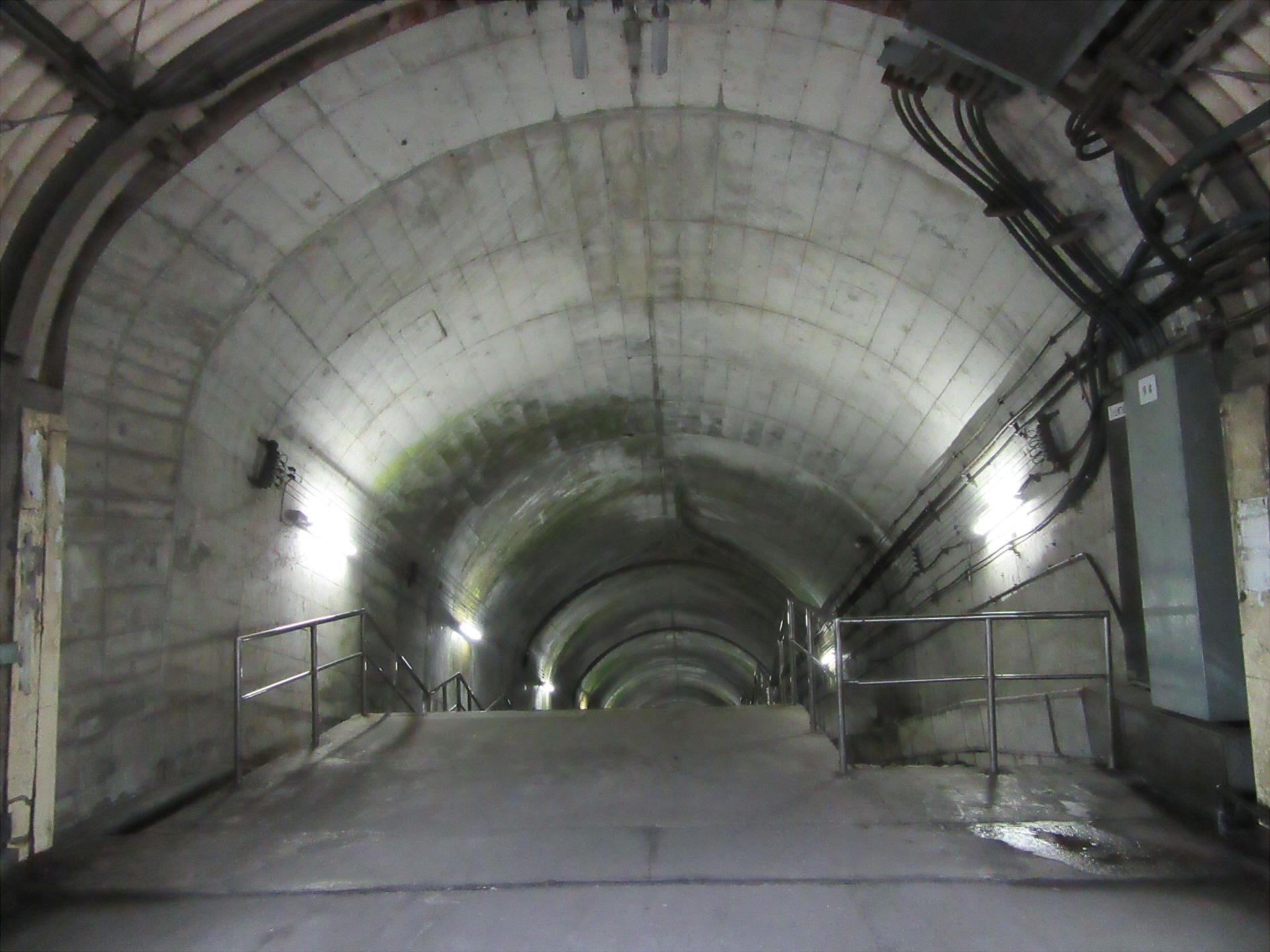 【画像】下り地下ホームへの階段入口