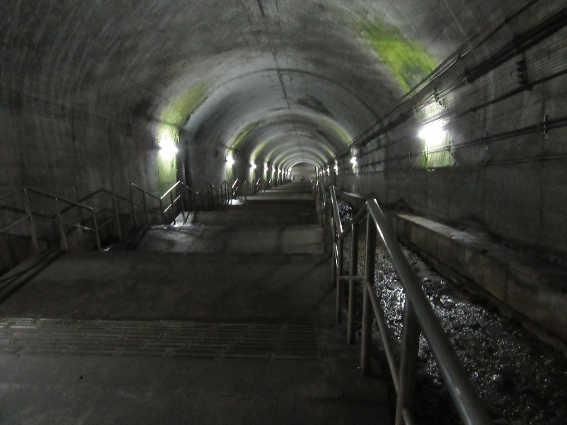 【画像】下り地下ホームへの階段