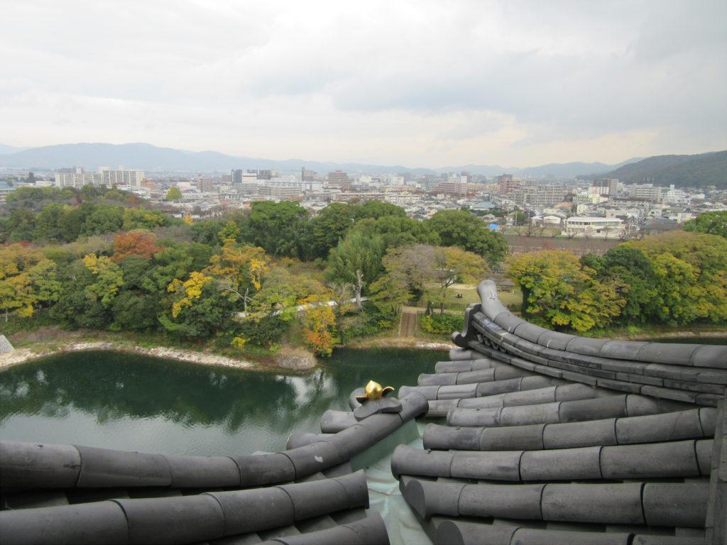 【画像】岡山城の最上階から見る岡山市街地