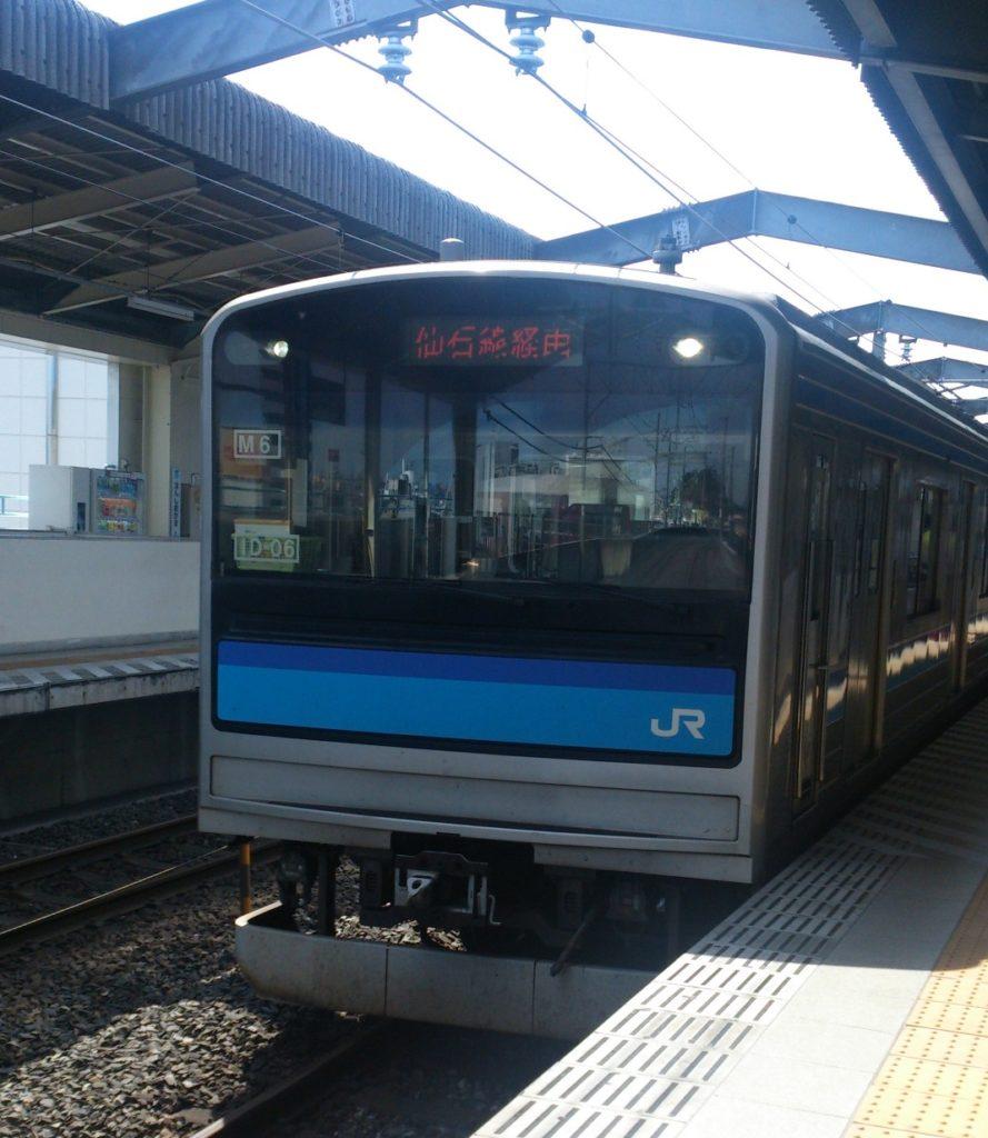 【画像】本塩釜駅に停車中の仙石線