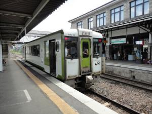 【画像】遠野駅に到着した釜石線