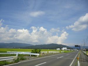 【画像】サイクリングコース走行
