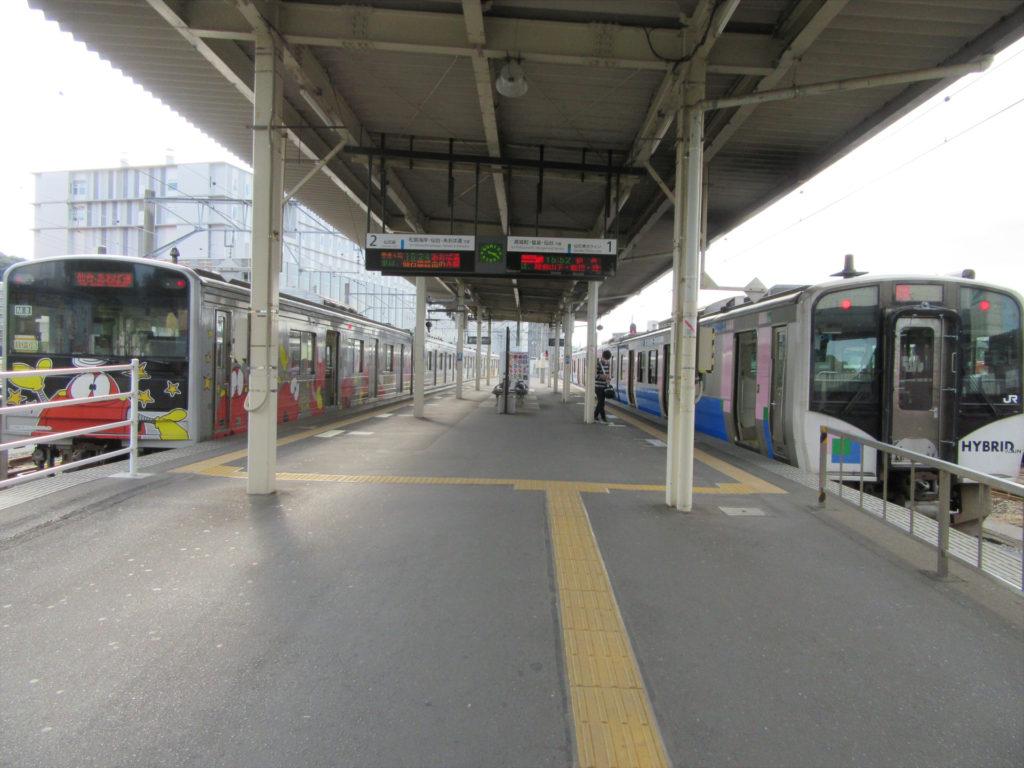 【画像】石巻駅 仙石線ホーム