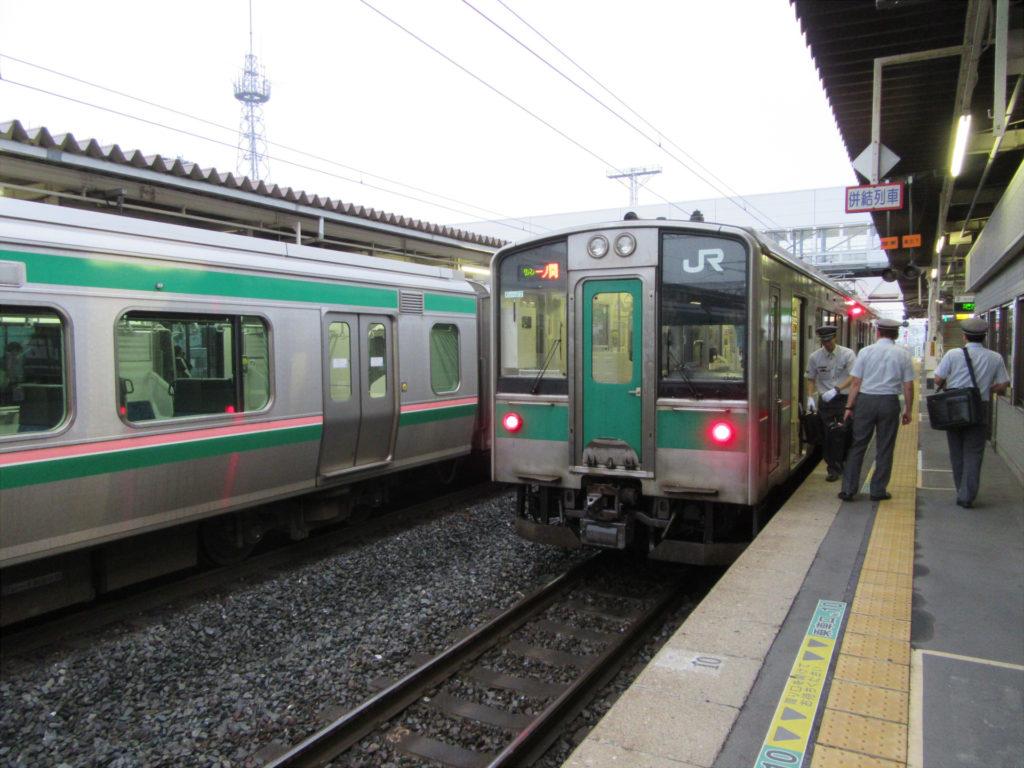 【画像】東北本線 一ノ関行き(小牛田駅にて)