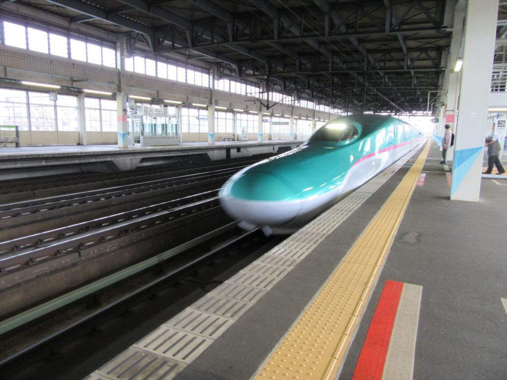 【画像】盛岡駅(新幹線ホームにて)