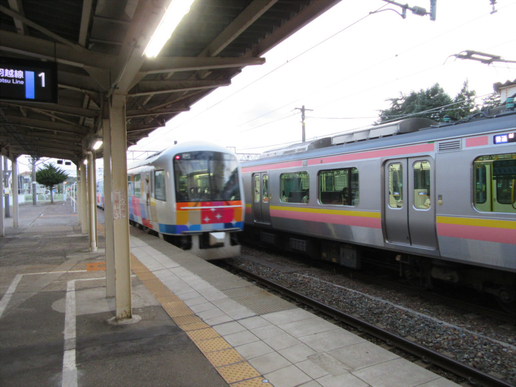 【画像】村上駅ホーム