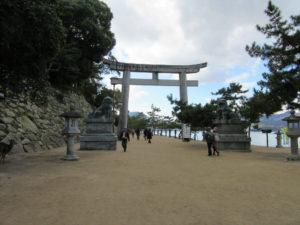 厳島神社 石鳥居