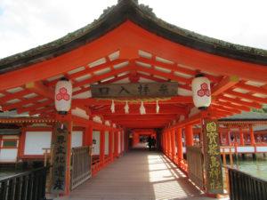 厳島神社 拝殿入口