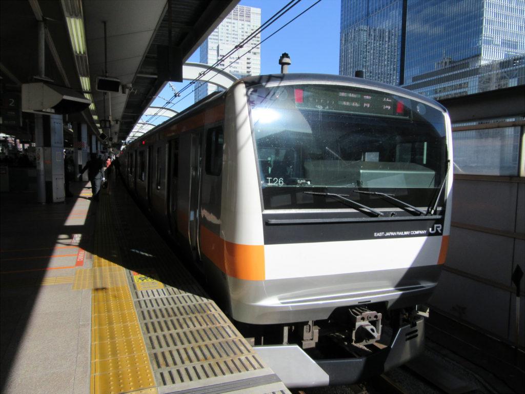 中央線快速(東京駅にて)