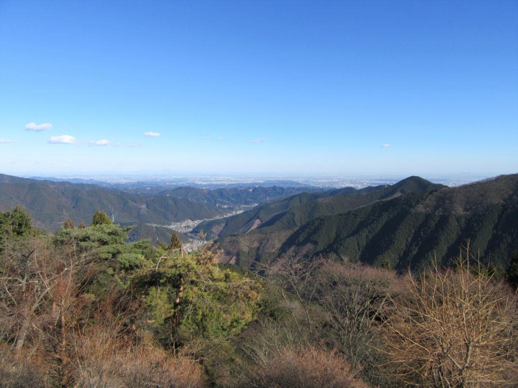 御岳山駅前から見渡した景色