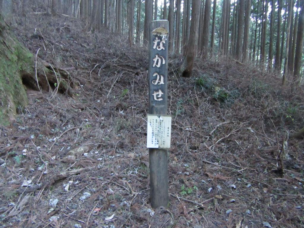 ケーブル下への山道(中間地点)