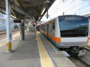 中央線快速(高尾駅)