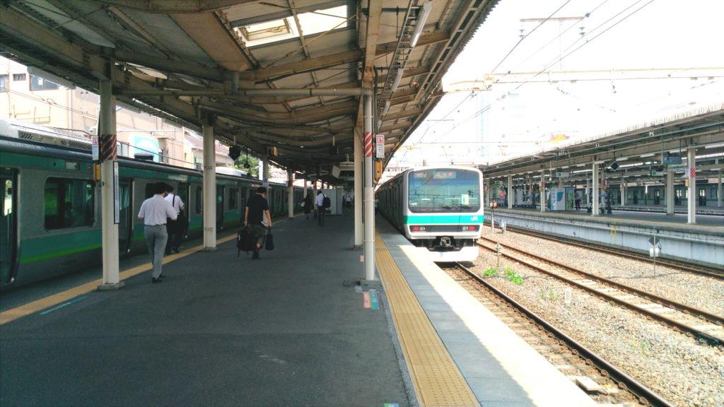 我孫子駅 常磐線快速乗り場