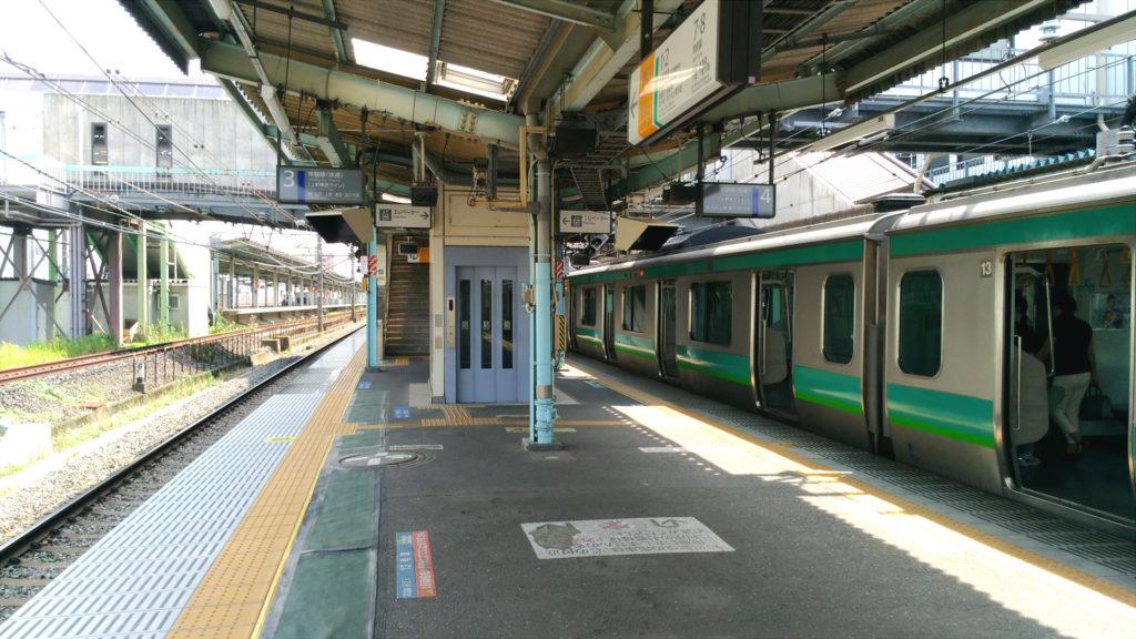 取手駅 常磐線快速乗り場