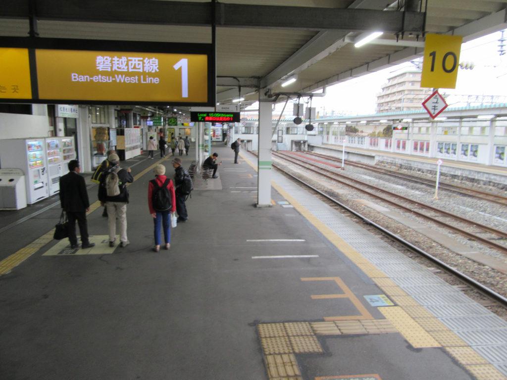 会津若松駅構内