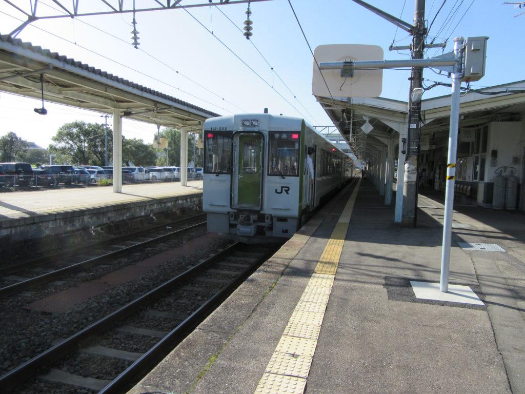 喜多方駅に到着した磐越西線