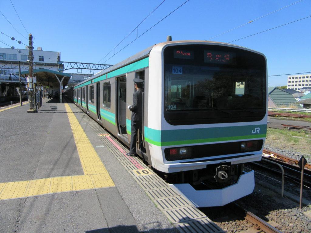 成田線(我孫子支線) 我孫子行き(成田駅にて)