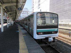 常磐線 いわき行き(水戸駅にて)