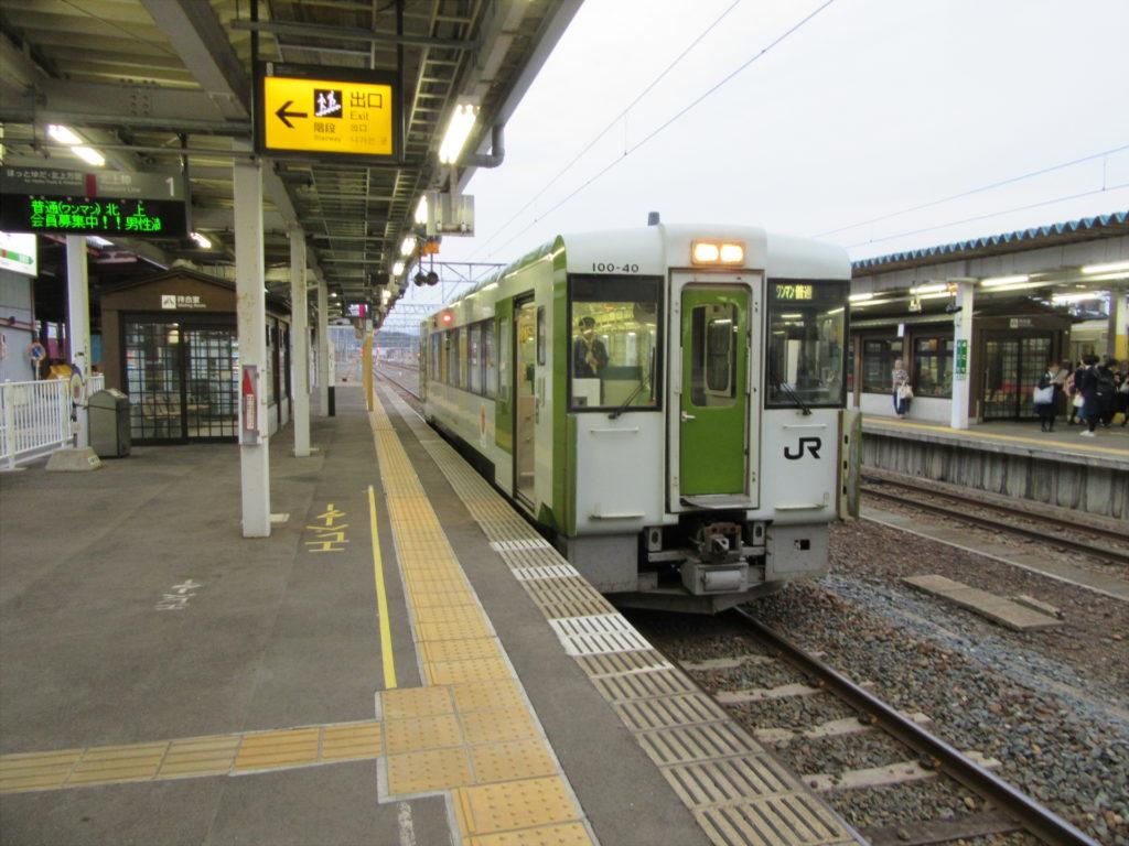横手駅 北上線ホーム
