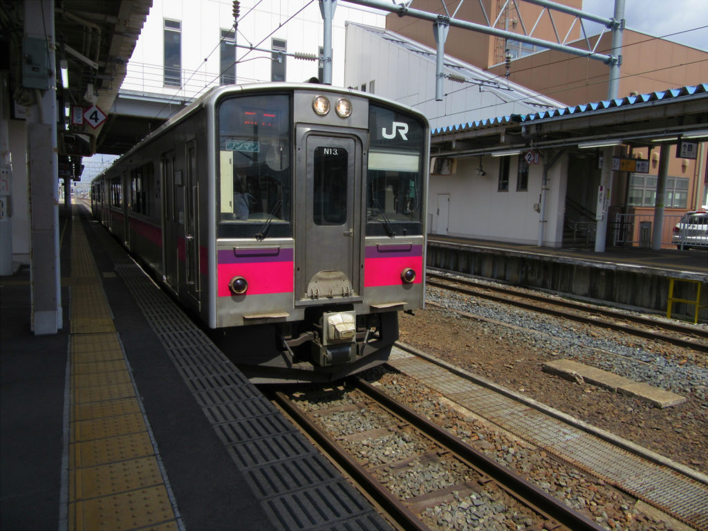 奥羽本線 新庄行き(横手駅にて)